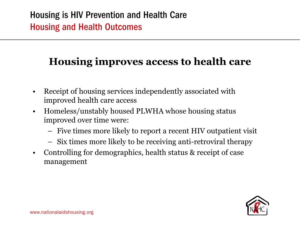 Housing improves access to health care