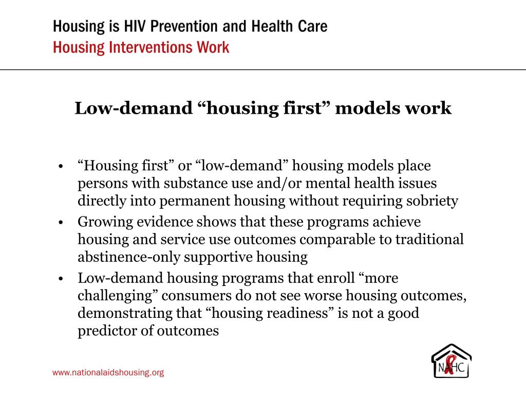 "Low-demand ""housing first"" models work"