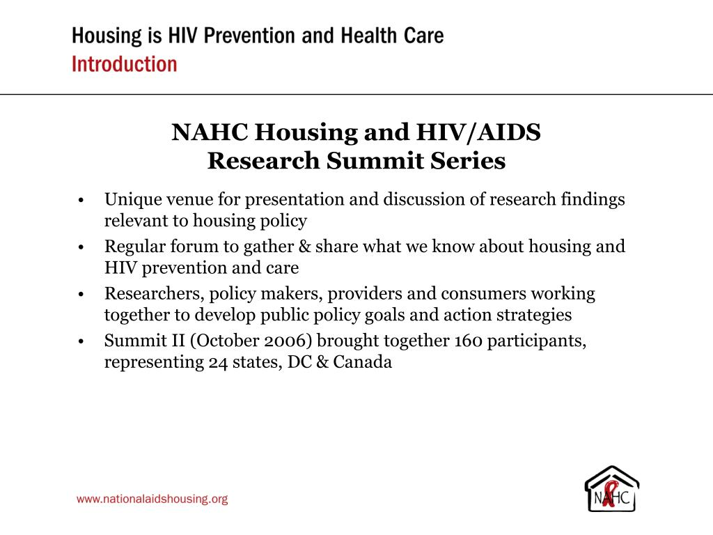 NAHC Housing and HIV/AIDS