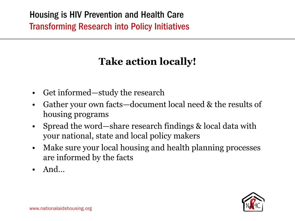 Take action locally!