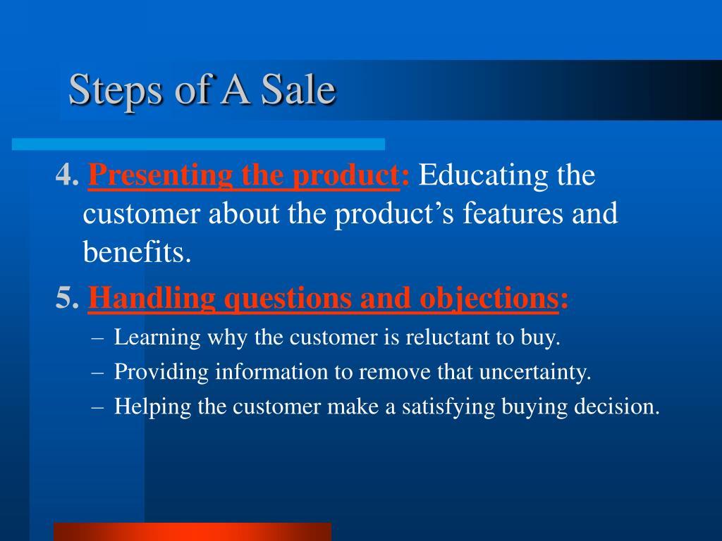 Steps of A Sale