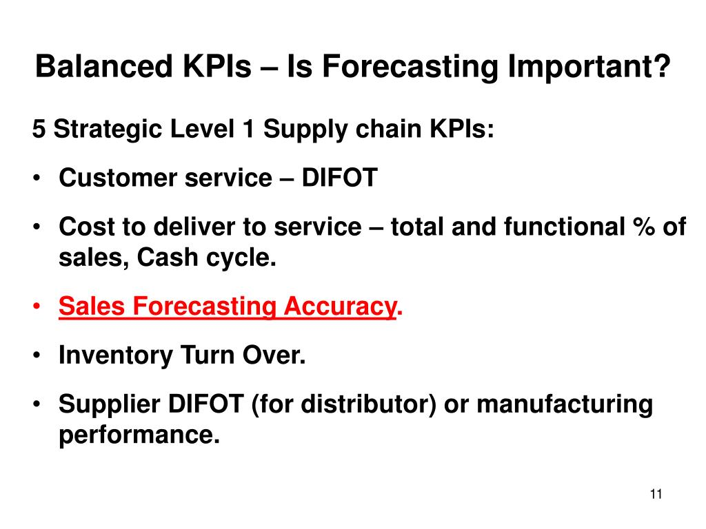 Balanced KPIs – Is Forecasting Important?
