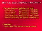 seattle 2005 construction activity
