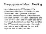 the purpose of march meeting