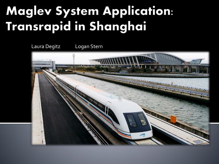 Maglev system a pplication transrapid in shanghai l.jpg
