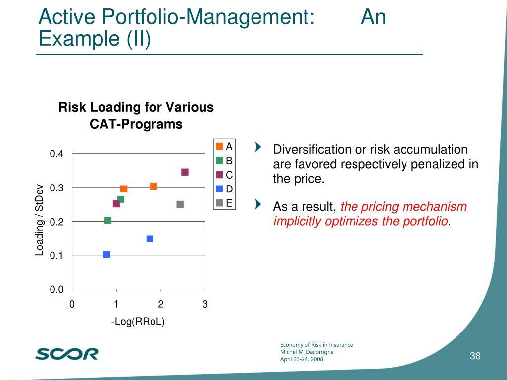 Active Portfolio-Management:        An Example (II)