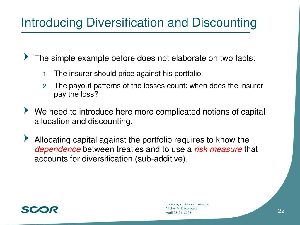 Introducing Diversification and Discounting