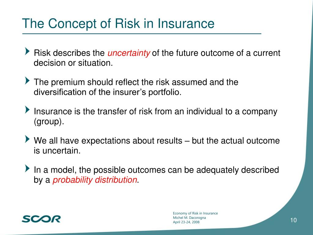 The Concept of Risk in Insurance