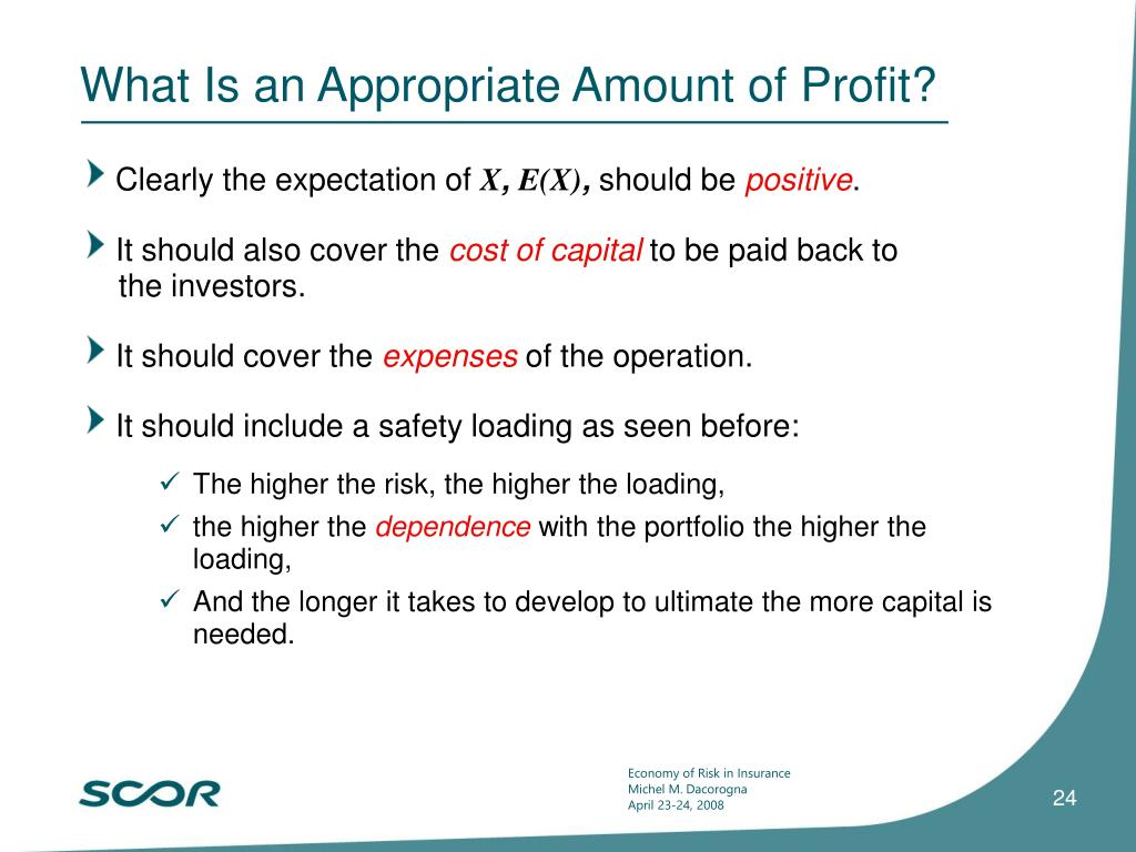 What Is an Appropriate Amount of Profit?