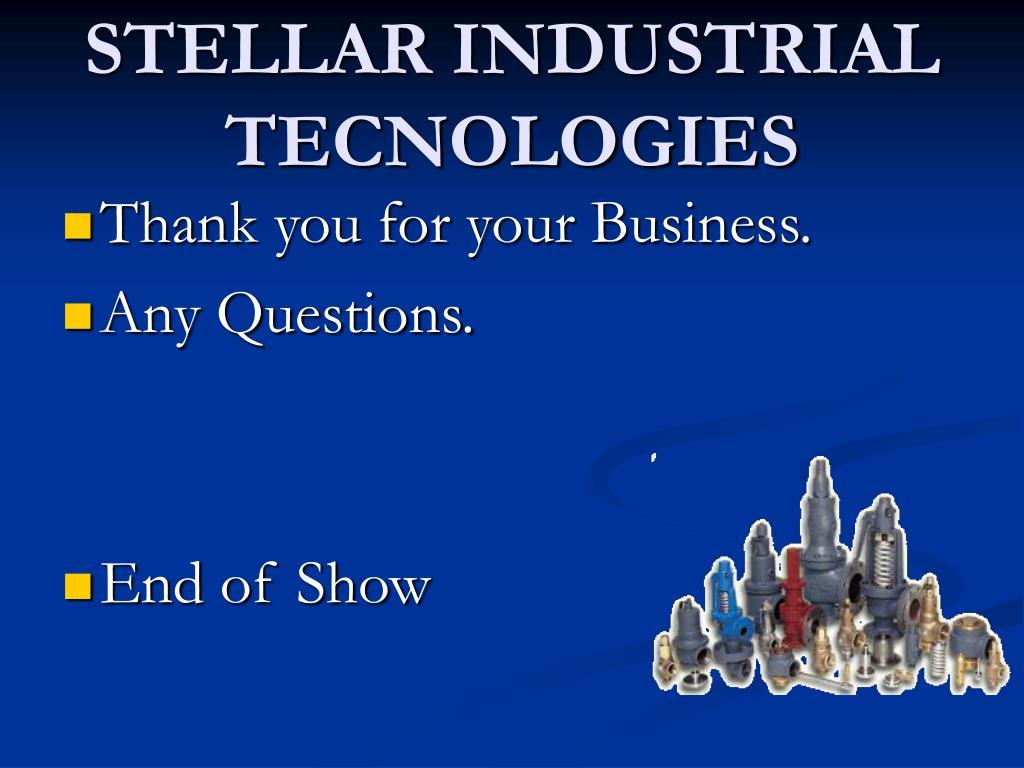 STELLAR INDUSTRIAL TECNOLOGIES