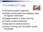 foldables are