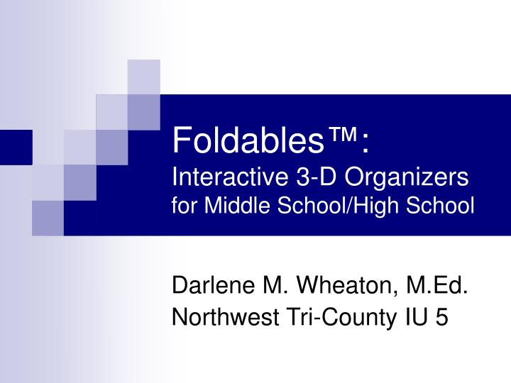 foldables interactive 3 d organizers for middle school high school