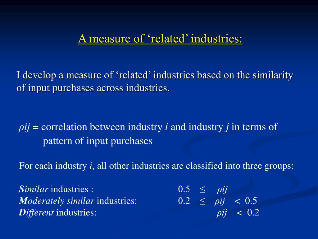 A measure of 'related' industries: