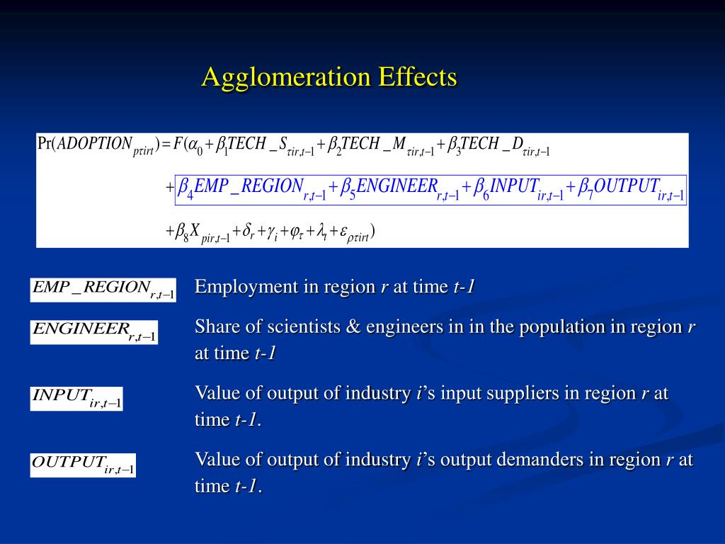 Agglomeration Effects