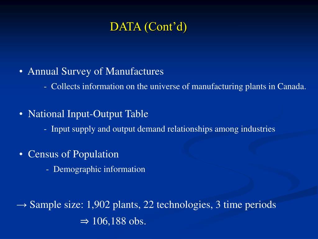 DATA (Cont'd)