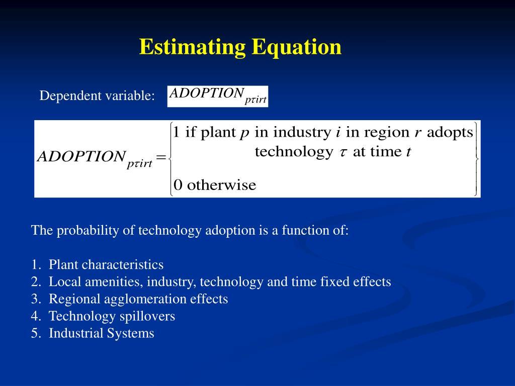 Estimating Equation