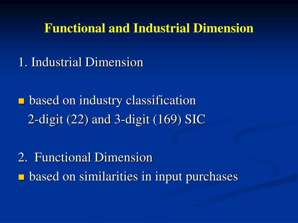 Functional and Industrial Dimension