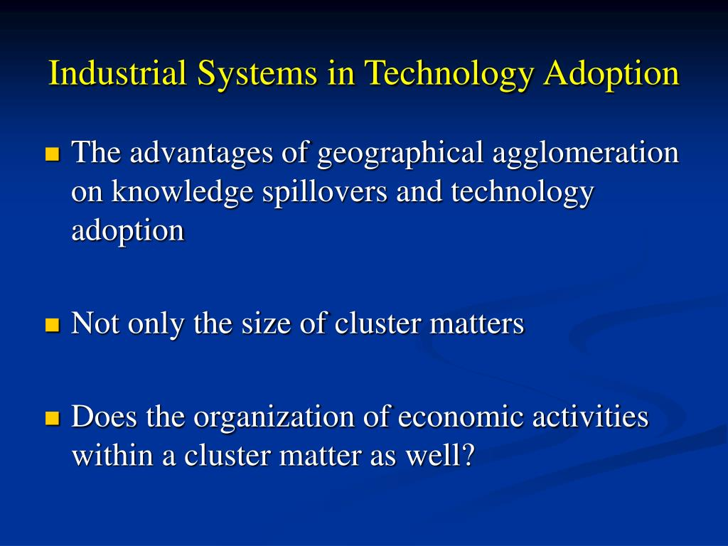 Industrial Systems in Technology
