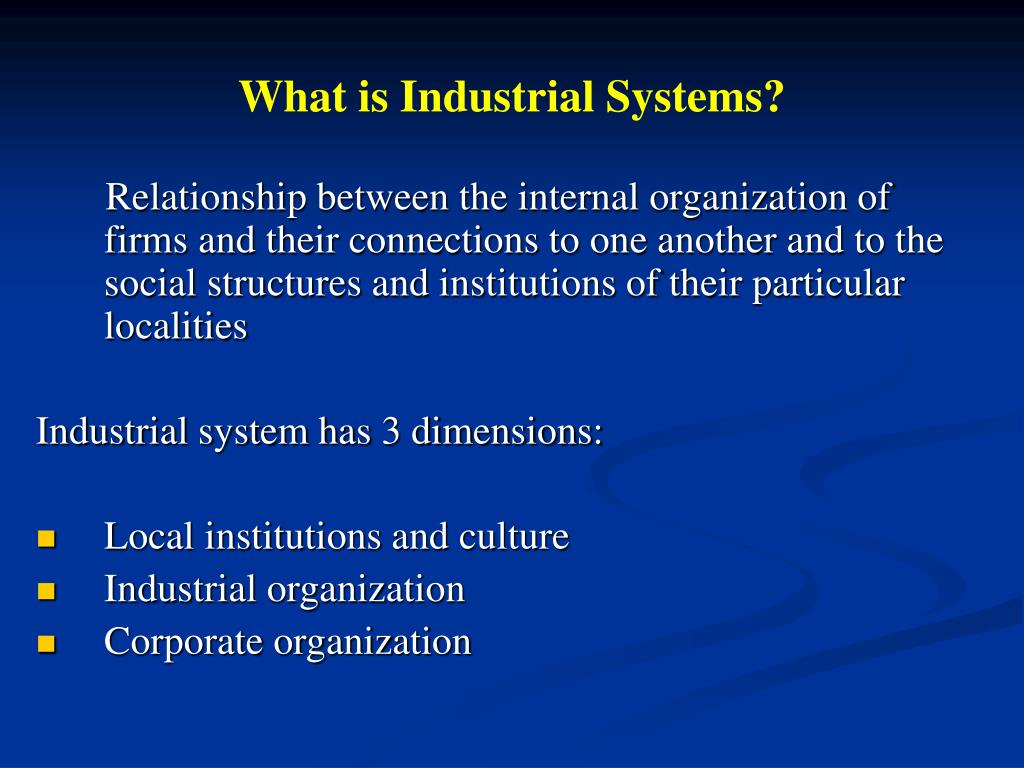 What is Industrial Systems?