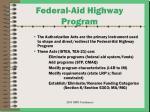 federal aid highway program
