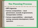 the planning process20