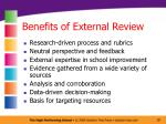 benefits of external review
