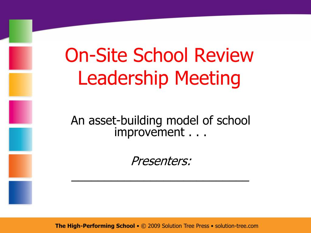 on site school review leadership meeting