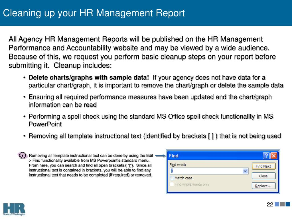Cleaning up your HR Management Report