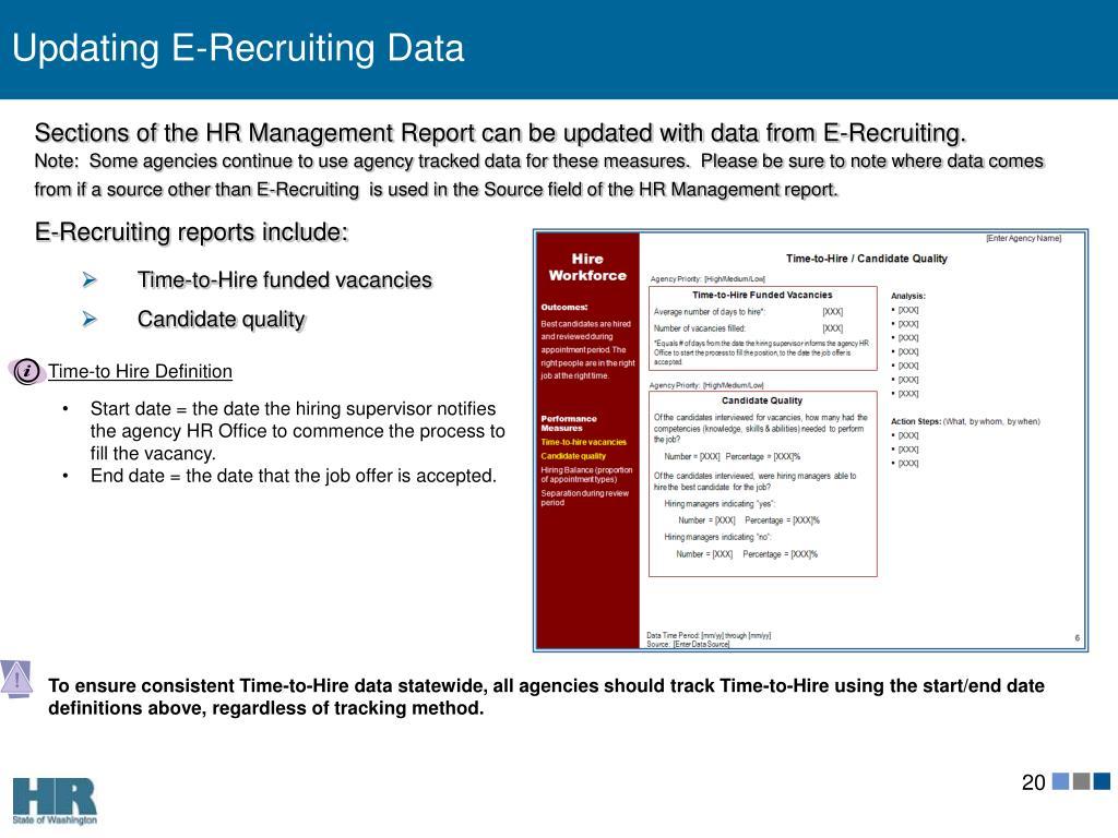 Updating E-Recruiting Data