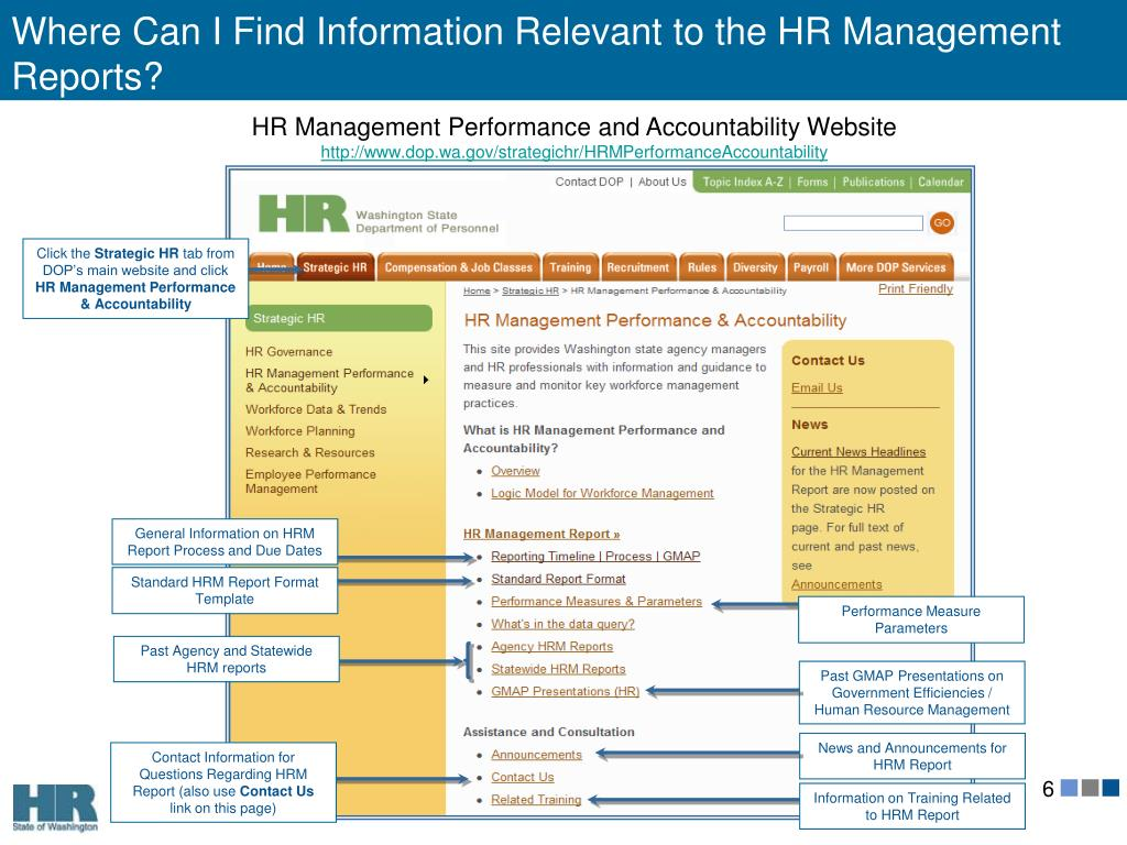 Where Can I Find Information Relevant to the HR Management Reports?
