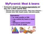 mypyramid meat beans