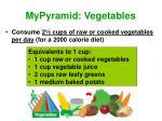 mypyramid vegetables