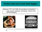 portion sizes have never been bigger