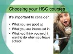 choosing your hsc courses