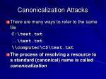 canonicalization attacks