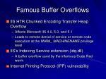 famous buffer overflows