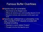 famous buffer overflows27