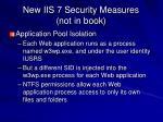 new iis 7 security measures not in book