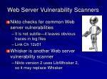 web server vulnerability scanners