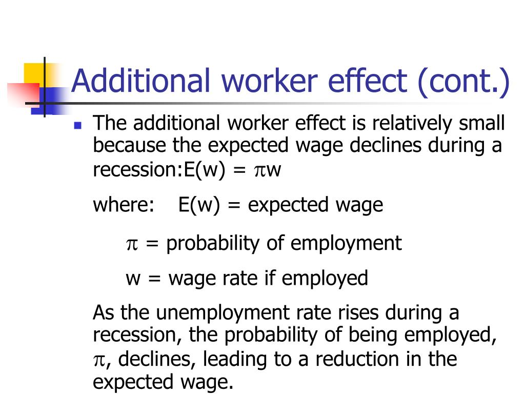 Additional worker effect (cont.)