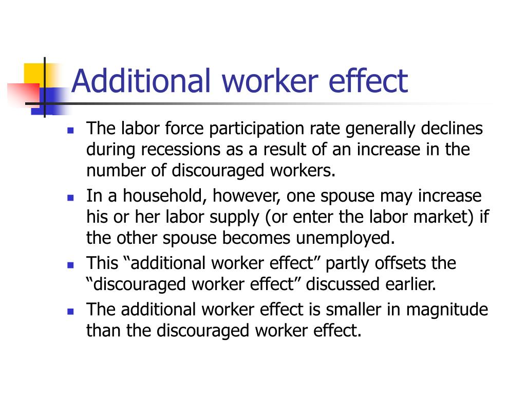 Additional worker effect