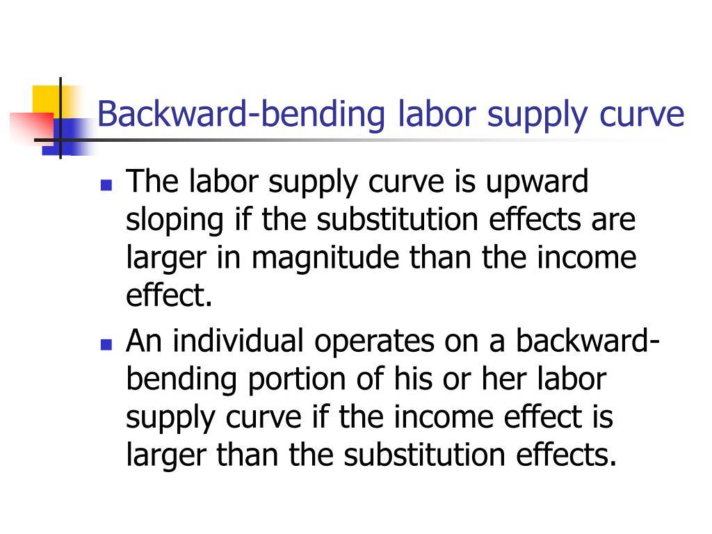 Backward-bending labor supply curve