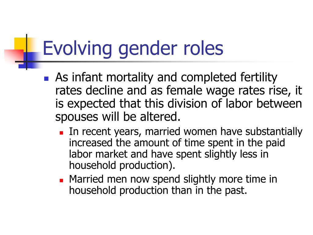 Evolving gender roles