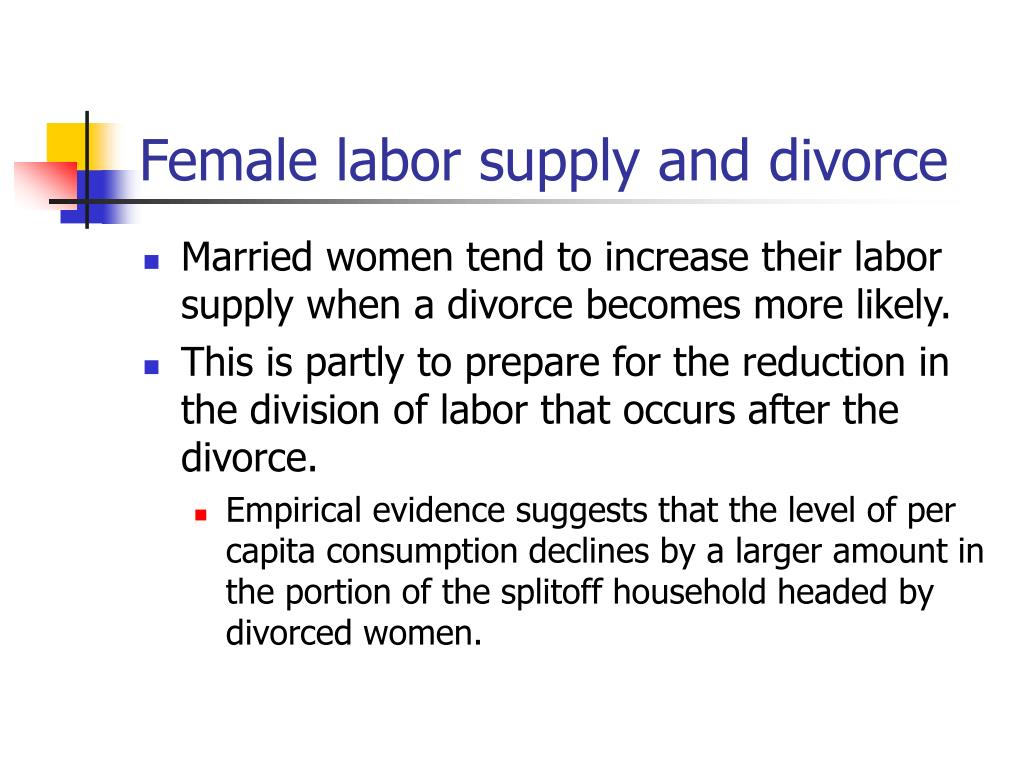 Female labor supply and divorce