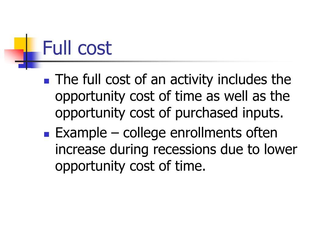 Full cost
