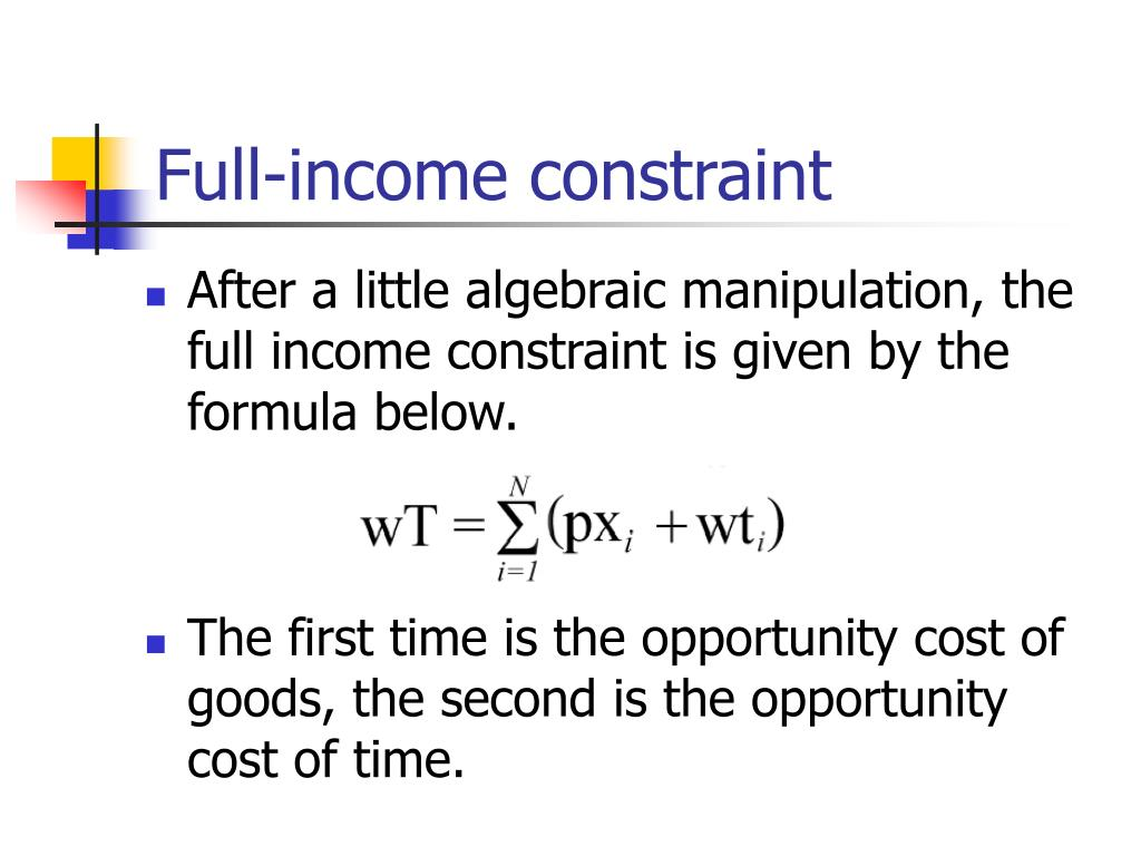 Full-income constraint