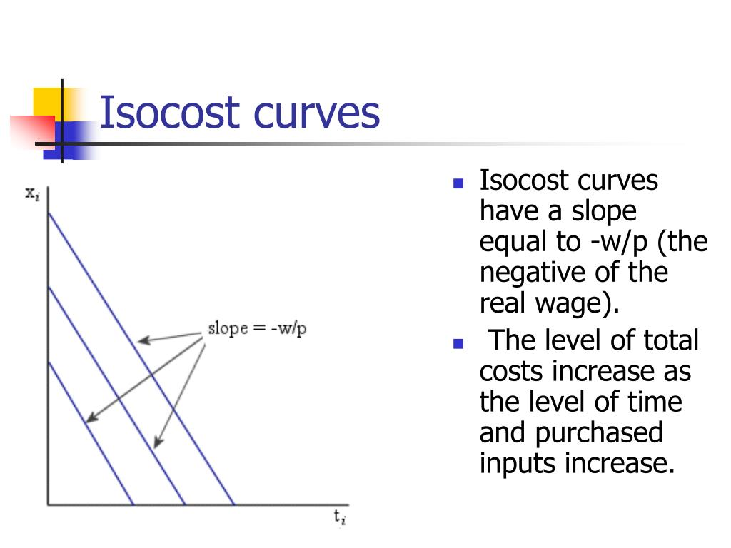 Isocost curves