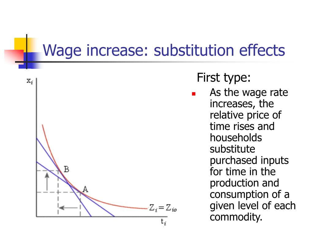 Wage increase: substitution effects