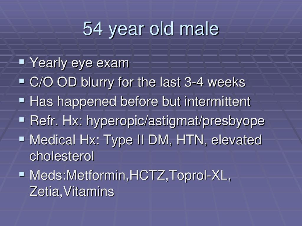 54 year old male