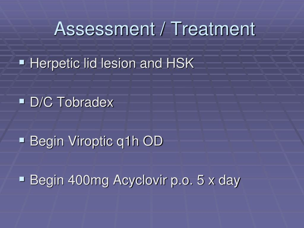 Assessment / Treatment